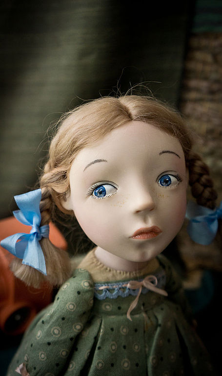 Коллекционные куклы ручной работы. Ярмарка Мастеров - ручная работа. Купить Малеха в зеленом. Handmade. Салатовый, любить и жаловать