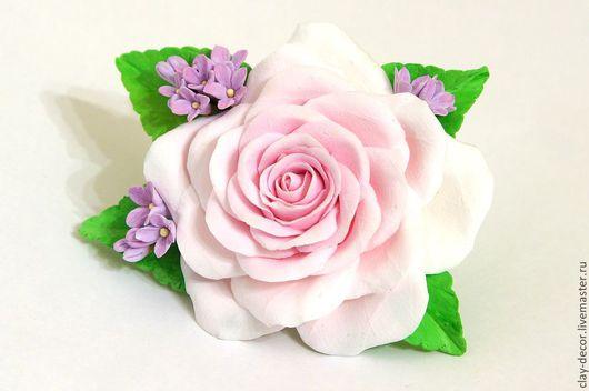 """Броши ручной работы. Ярмарка Мастеров - ручная работа. Купить """"Дыхание весны"""" Брошь из полимерной глины. Handmade. Бледно-розовый"""