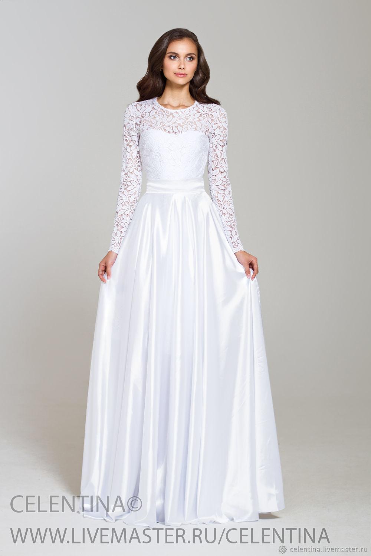 eaec39c93a8c Белое вечернее платье, платье в пол, макси платье, белое кружевное платье,  платье ...