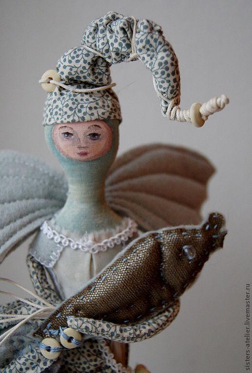 Коллекционные куклы ручной работы. Ярмарка Мастеров - ручная работа. Купить Живущая у моря....Винтажная коллекционная кукла. Handmade. Голубой