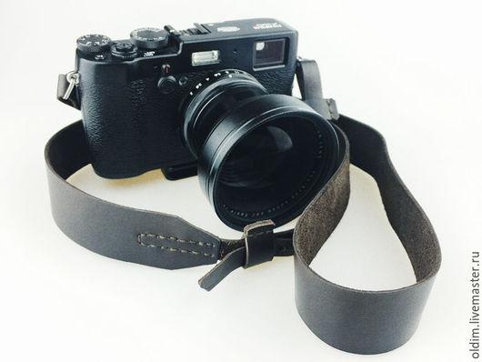 Пояса, ремни ручной работы. Ярмарка Мастеров - ручная работа. Купить Кожаный ремень для зеркального фотоаппарата. Handmade. Черный