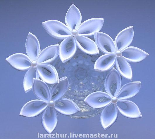 Заколки ручной работы. Ярмарка Мастеров - ручная работа. Купить Шпильки-цветы из атласных лент. Handmade. Цветы из ткани