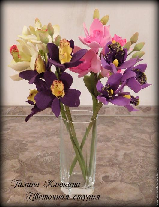Букет из орхидей. Ветка орхидеи. Цветы и флористика. Цветы. Орхидея. Подарок на любой случай.