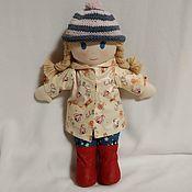 Мягкие игрушки ручной работы. Ярмарка Мастеров - ручная работа Мягкие игрушки: Французская текстильная игровая кукла Настя. Handmade.