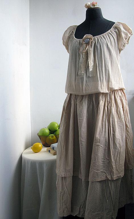 """Платья ручной работы. Ярмарка Мастеров - ручная работа. Купить Платье """"Утомлённое солнце"""". Handmade. Авторское платье, платье в полоску"""