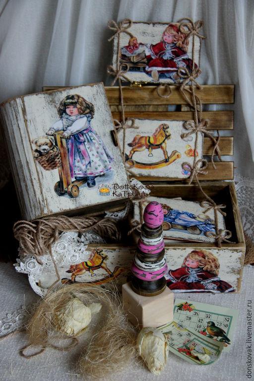 """Развивающие игрушки ручной работы. Ярмарка Мастеров - ручная работа. Купить Набор """"Куклы"""". Handmade. Кукла в подарок, для новорожденных, пирамидка"""