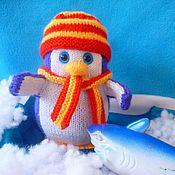 Куклы и игрушки ручной работы. Ярмарка Мастеров - ручная работа Пингвин -малыш. вязаная игрушка. Handmade.