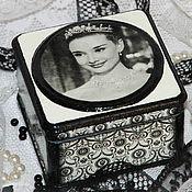 Для дома и интерьера ручной работы. Ярмарка Мастеров - ручная работа Шкатулка «Очаровательная Одри Хепберн». Handmade.