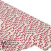 Ткани ручной работы. Ярмарка Мастеров - ручная работа Ткань Хлопок немецкий Темно-красные треугольники (17387). Handmade.