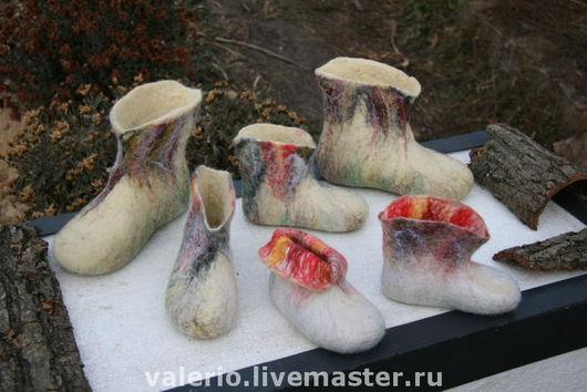 """Обувь ручной работы. Ярмарка Мастеров - ручная работа. Купить Валенки для дома """"Зима"""". Handmade. Тепло, уютные, валяные тапочки"""