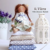 Куклы и игрушки ручной работы. Ярмарка Мастеров - ручная работа Утро в Провансе Принцесса на горошине тильда ангел. Handmade.