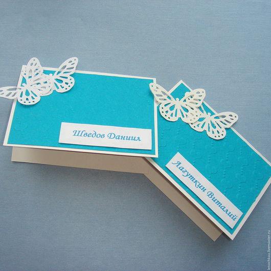 Свадебные аксессуары ручной работы. Ярмарка Мастеров - ручная работа. Купить Карточки рассадочные. Handmade. Комбинированный, карточки для рассадки