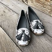 Обувь ручной работы handmade. Livemaster - original item Loafers from Python. Handmade.