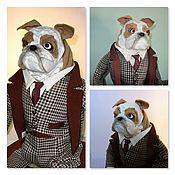 Мягкие игрушки ручной работы. Ярмарка Мастеров - ручная работа Собака Английский бульдог. Handmade.