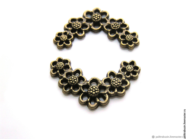 Pendant floral motif bronze, Pendants, Tyumen,  Фото №1
