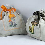 Для дома и интерьера ручной работы. Ярмарка Мастеров - ручная работа МОИ ГРИБОЧКИ для хранения грибов, оригинальный подарок. Handmade.