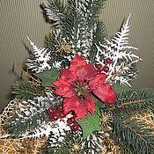 """Подарки к праздникам ручной работы. Ярмарка Мастеров - ручная работа Новогодняя композиция """"Рождественская радость"""". Handmade."""
