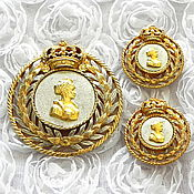 Винтаж handmade. Livemaster - original item Queen set, Nettie Rosenstein, USA, ,40s, heraldry, crown. Handmade.