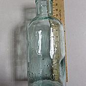 Винтаж ручной работы. Ярмарка Мастеров - ручная работа Старенькая бутылочка с надписью в стекле.. Handmade.