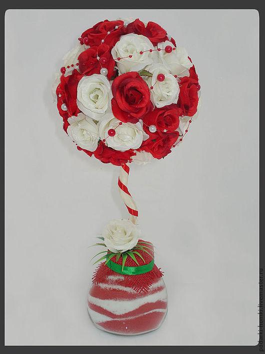 Деревья ручной работы. Ярмарка Мастеров - ручная работа. Купить Топиарий из роз.. Handmade. Розы, соль, розы