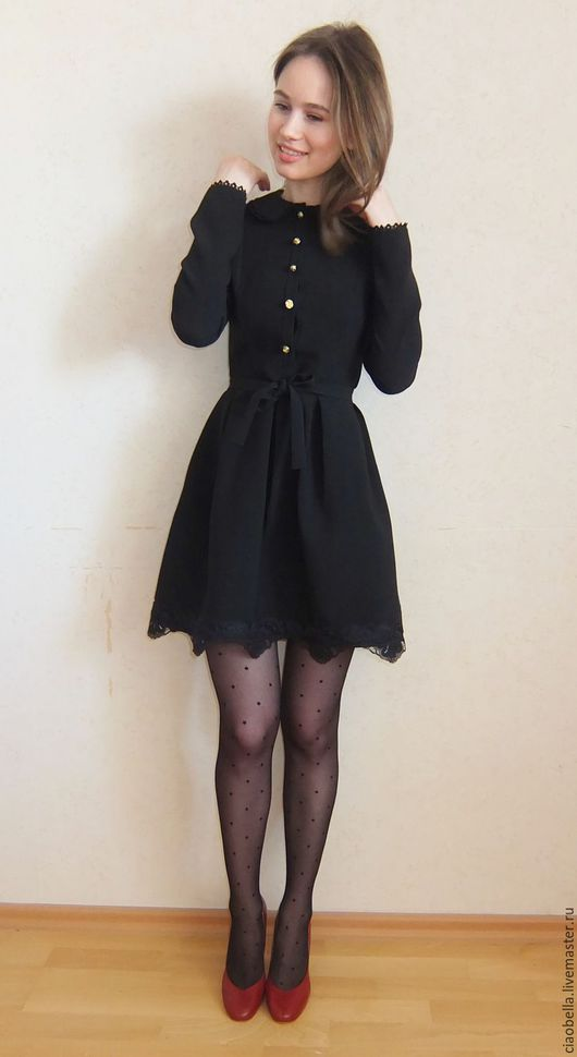"""Платья ручной работы. Ярмарка Мастеров - ручная работа. Купить Платье """"Soir noir"""". Handmade. Черный, платье с пышной юбкой"""