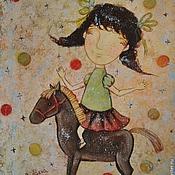 Картины и панно ручной работы. Ярмарка Мастеров - ручная работа Моя лошадка (репродукция). Handmade.