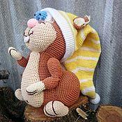 Мягкие игрушки ручной работы. Ярмарка Мастеров - ручная работа Белка, вязаная игрушка. Handmade.