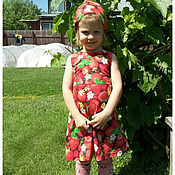 Платья ручной работы. Ярмарка Мастеров - ручная работа Летнее платье с косыночка. Комплект. Handmade.