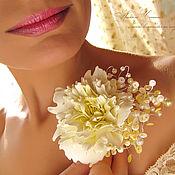 """Свадебный салон ручной работы. Ярмарка Мастеров - ручная работа Заколка для волос """"Солнечный цветок"""". Handmade."""