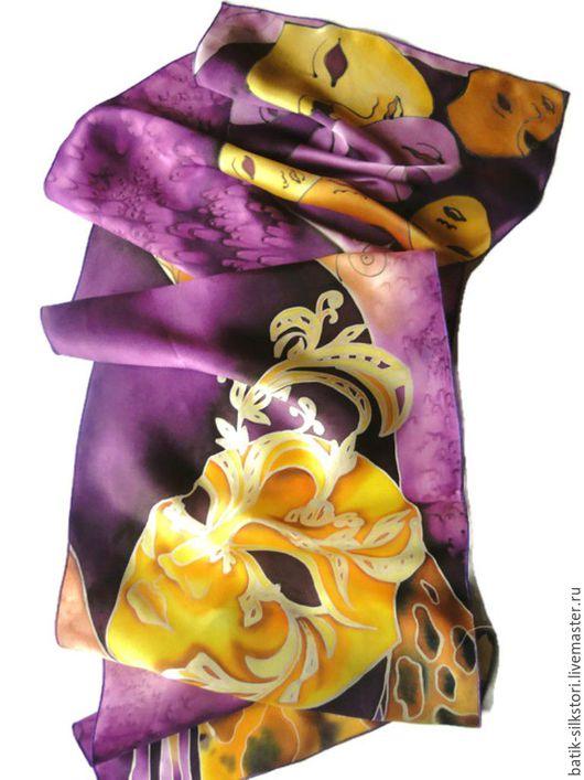 Шарфы и шарфики ручной работы. Ярмарка Мастеров - ручная работа. Купить Батик Шарф Маска. Handmade. Батик шарф