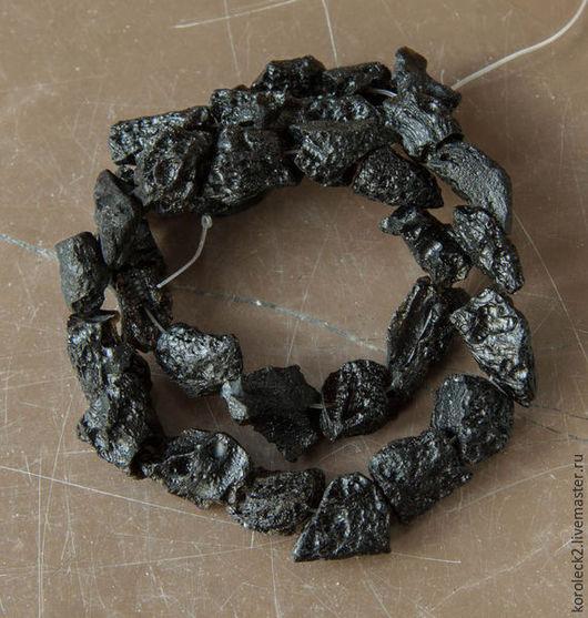 Для украшений ручной работы. Ярмарка Мастеров - ручная работа. Купить Бусины-кристаллы из тектита 12 мм. Handmade. Черный