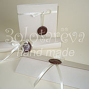 Свадебный салон ручной работы. Ярмарка Мастеров - ручная работа Свадебные приглашения с сургучной печатью. Handmade.
