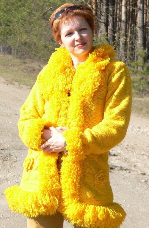 Верхняя одежда ручной работы. Ярмарка Мастеров - ручная работа. Купить Пальто-солнышко. Handmade.