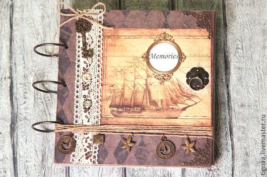 Фотоальбомы ручной работы. Ярмарка Мастеров - ручная работа. Купить Фотоальбом для рыбака и охотника (подарок мужчине). Handmade. Бежевый
