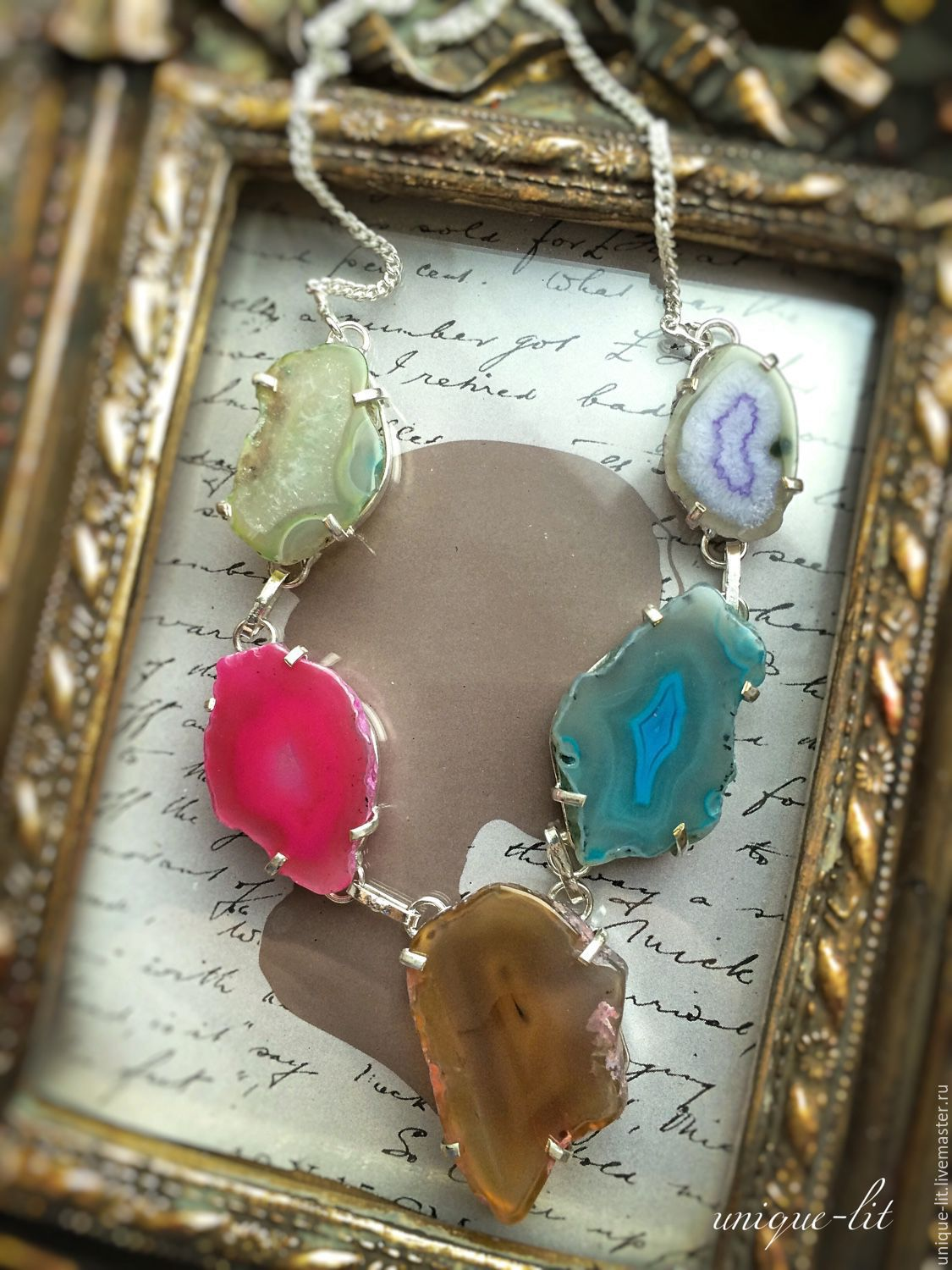 Necklace of agate slices, Necklace, Yaroslavl,  Фото №1
