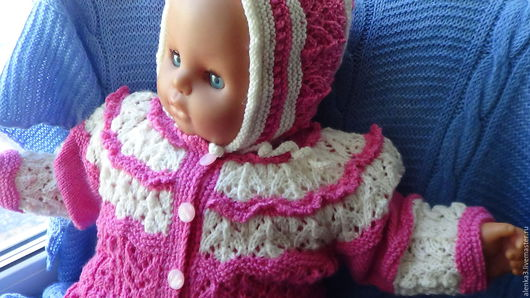 """Одежда ручной работы. Ярмарка Мастеров - ручная работа. Купить комплект  для малышки  """"малинка со сливками"""". Handmade. Комбинированный"""
