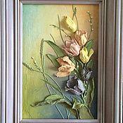 """Картины и панно ручной работы. Ярмарка Мастеров - ручная работа Картина объемная """"Тюльпаны"""". Handmade."""