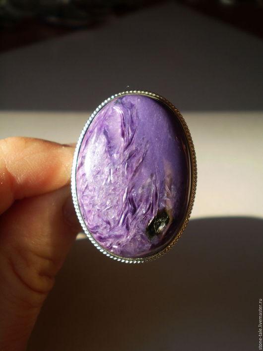 """Кольца ручной работы. Ярмарка Мастеров - ручная работа. Купить Кольцо с чароитом """"Виола"""". Handmade. Фиолетовый, кольцо"""