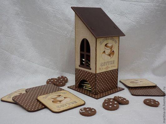 """Кухня ручной работы. Ярмарка Мастеров - ручная работа. Купить Чайный домик """"Ароматный кофе"""". Handmade. Коричневый, чайная коробка"""