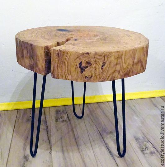 Мебель ручной работы. Ярмарка Мастеров - ручная работа. Купить Спил дуба / стол лофт Lofteco. Handmade.
