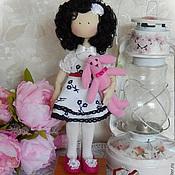 Куклы и игрушки ручной работы. Ярмарка Мастеров - ручная работа Текстильная интерьерная кукла WHITE & BLACK. Handmade.