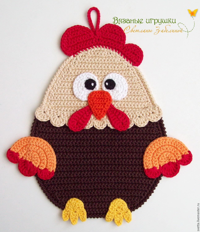 прихватка курица вязаная вязание спицами и крючком каталог