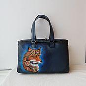 handmade. Livemaster - original item Bag leather painted to order for Natulechka))). Handmade.