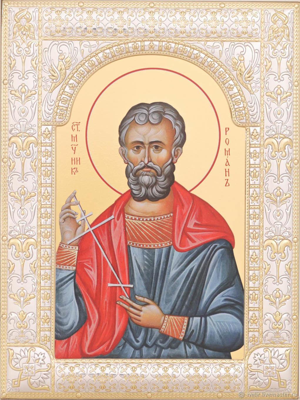 Roman the Saint of Caesarea (18h24cm), Icons, Moscow,  Фото №1