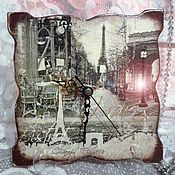 """Для дома и интерьера ручной работы. Ярмарка Мастеров - ручная работа Часы """"Старый Париж"""". Handmade."""