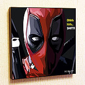 Картины и панно handmade. Livemaster - original item Picture Deadpool Pop Art. Handmade.