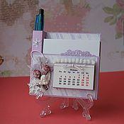 Сувениры и подарки ручной работы. Ярмарка Мастеров - ручная работа Магнит органайзер - календарь на холодильник. Handmade.