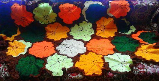 """Текстиль, ковры ручной работы. Ярмарка Мастеров - ручная работа. Купить Комплект  """"Осень в лесу"""". Handmade. Рыжий, ручная работа"""