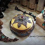 Для дома и интерьера ручной работы. Ярмарка Мастеров - ручная работа шкатулка бронза и индиго. Handmade.