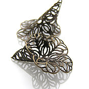Материалы для творчества handmade. Livemaster - original item Cap cone cap beads filigree. Handmade.